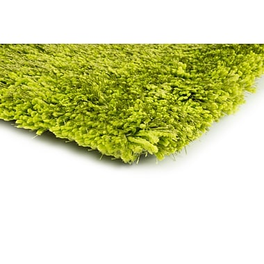 StyleHaven Shag Green/ Green Indoor Hand-made Polyester Area Rug (6'6