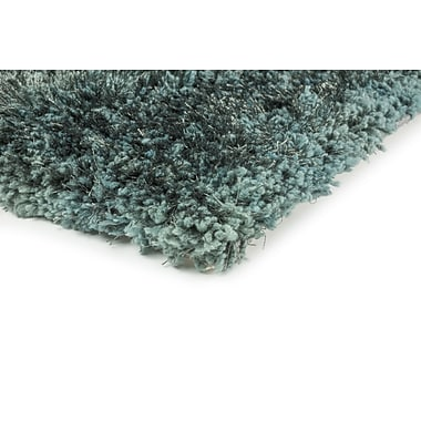 StyleHaven Shag Black/ Black Indoor Hand-made Polyester Area Rug (3'3