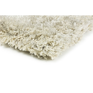 StyleHaven Shag Ivory/ Ivory Indoor Hand-made Polyester Area Rug (6'6