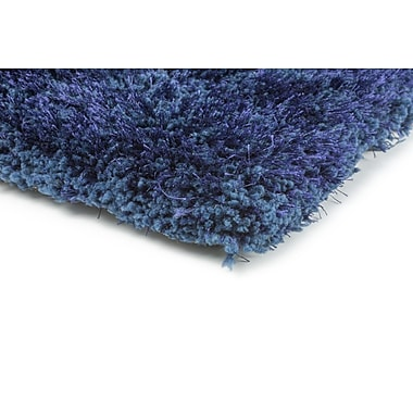 StyleHaven Shag Blue/ Blue Indoor Hand-made Polyester Area Rug (3'3
