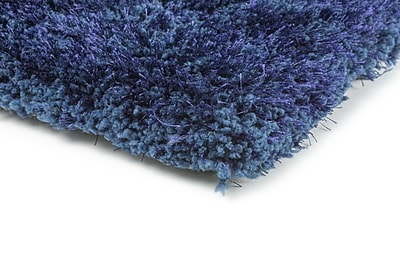 StyleHaven Shag Blue/ Blue Indoor Hand-made Polyester Area Rug (6'6
