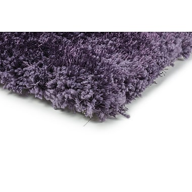 StyleHaven Shag Purple/ Purple Indoor Hand-made Polyester Area Rug (6'6