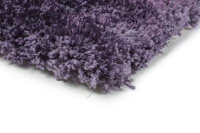 Shag Purple/ Purple Indoor Hand-made Polyester Area Rug (5' X 7')