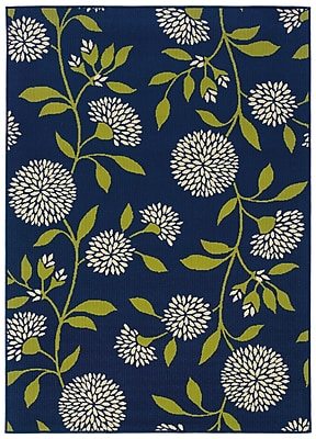 StyleHaven Floral Blue/ Green Indoor/Outdoor Machine-made Polypropylene Area Rug (7'10