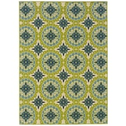 "StyleHaven Floral Green/ Ivory Indoor/Outdoor Machine-made Polypropylene Area Rug (5'3"" X 7'6"")"