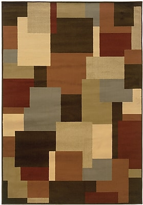 StyleHaven Geometric Brown/ Beige Indoor Machine-made Polypropylene Area Rug (3'3