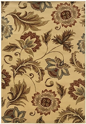 StyleHaven Floral Beige/ Gold Indoor Machine-made Polypropylene Area Rug (7'10