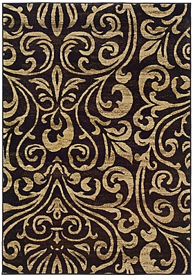 StyleHaven Botanical Black/ Gold Indoor Machine-made Polypropylene Area Rug (7'10