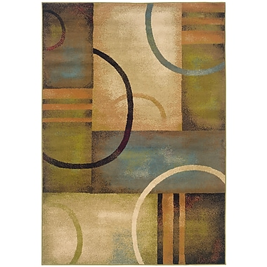 StyleHaven Geometric Brown/ Gold Indoor Machine-made Polypropylene Area Rug (7'10