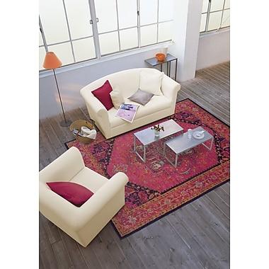 StyleHaven Oriental Pink/ Blue Indoor Machine-made Polypropylene Area Rug (5'3