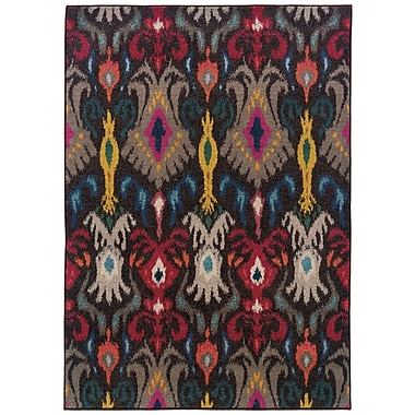 StyleHaven Abstract Floral Grey/ Multi Indoor Machine-made Polypropylene Area Rug (4' X 5'9