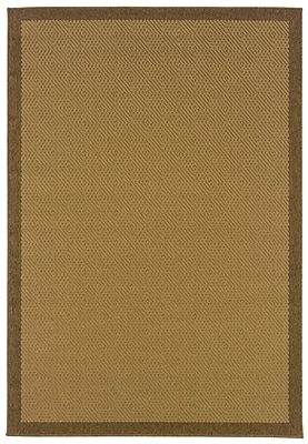 StyleHaven - Outdoor Beige/ Brown Indoor/Outdoor Machine-Made Polypropylene Area Rug (5'3