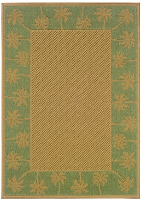 "StyleHaven-Outdoor Beige/ Green Indoor/Outdoor Machine-made Polypropylene Area Rug (7'3"" X 10'6"")"