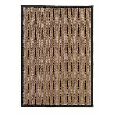 StyleHaven-Outdoor Beige/ Black Indoor/Outdoor Machine-made Polypropylene Area Rug (7'3