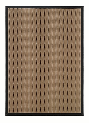 StyleHaven-Outdoor Beige/ Black Indoor/Outdoor Machine-made Polypropylene Area Rug (5'3