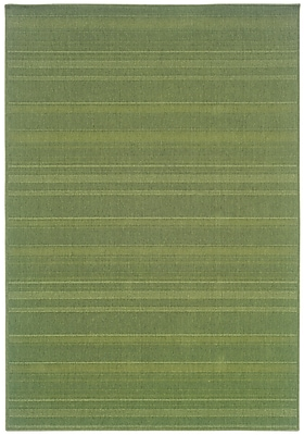 StyleHaven Outdoor Green/ Indoor/Outdoor Machine-made Polypropylene Area Rug (3'7