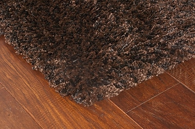 StyleHaven Shag Brown/ Black Indoor Machine-made Polypropylene Area Rug (7'10