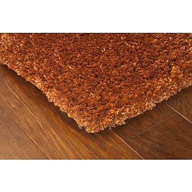 StyleHaven Shag Rust/ Brown Indoor Machine-made Polypropylene Area Rug (7'10