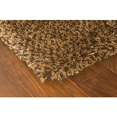 StyleHaven Shag Brown/ Gold Indoor Machine-made Polypropylene Area Rug (4' X 5'9