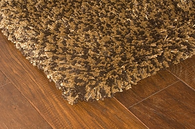 StyleHaven Shag Brown/ Gold Indoor Machine-made Polypropylene Area Rug (6'7