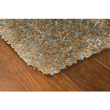 StyleHaven Shag Blue/ Gold Indoor Machine-made Polypropylene Area Rug (4' X 5'9