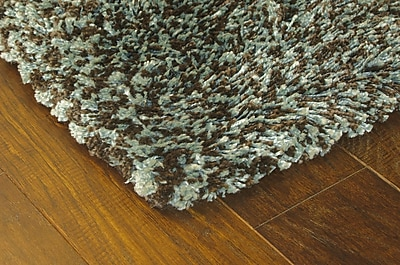StyleHaven Shag Blue/ Brown Indoor Machine-made Polypropylene Area Rug (7'10