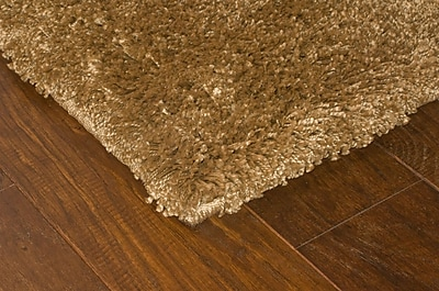 StyleHaven Shag Gold/ Gold Indoor Machine-made Polypropylene Area Rug (5'3
