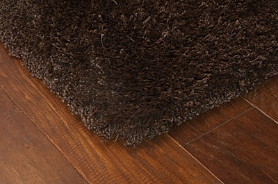 StyleHaven Shag Brown/ Brown Indoor Machine-made Polypropylene Area Rug (5'3
