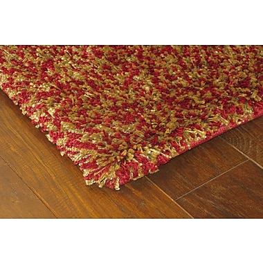 StyleHaven Shag Red/ Gold Indoor Machine-made Polypropylene Area Rug (4' X 5'9