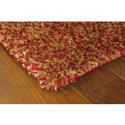 """StyleHaven Shag Red/ Gold Indoor Machine-made Polypropylene Area Rug (5'3"""" X 7'9"""")"""