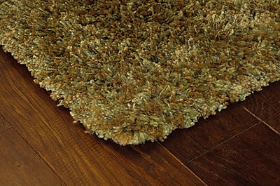 StyleHaven Shag Green/ Gold Indoor Machine-made Polypropylene Area Rug (6'7