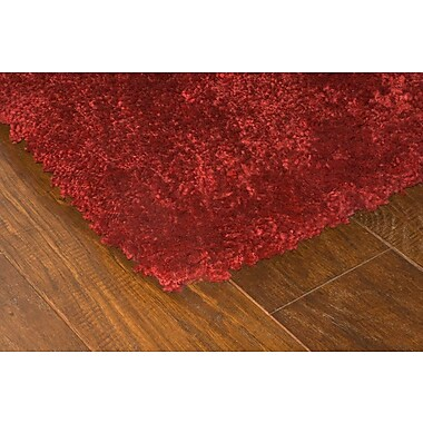 StyleHaven Shag Red/ Red Indoor Machine-made Polypropylene Area Rug (4' X 5'9