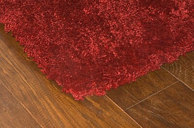 StyleHaven Shag Red/ Red Indoor Machine-made Polypropylene Area Rug (7'10