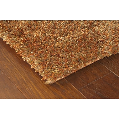 StyleHaven Shag Rust/ Gold Indoor Machine-made Polypropylene Area Rug (6'7