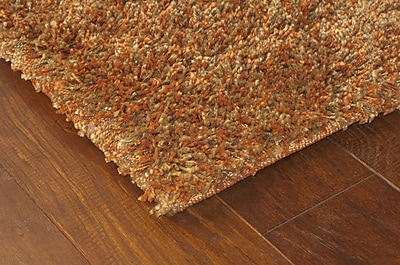 StyleHaven Shag Rust/ Gold Indoor Machine-made Polypropylene Area Rug (4' X 5'9