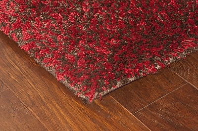StyleHaven Shag Red/ Brown Indoor Machine-made Polypropylene Area Rug (7'10