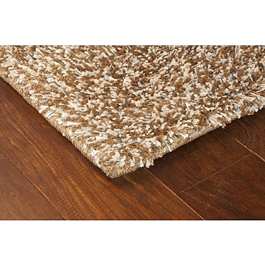 StyleHaven Shag Brown/ Ivory Indoor Machine-made Polypropylene Area Rug (6'7