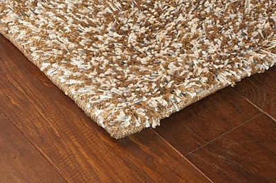 StyleHaven Shag Brown/ Ivory Indoor Machine-made Polypropylene Area Rug (7'10