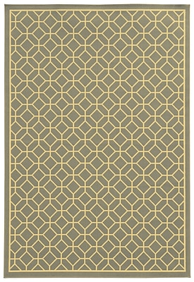 StyleHaven Geometric Grey/ Ivory Indoor/Outdoor Machine-made Polypropylene Area Rug (7'10