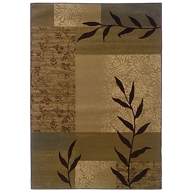 StyleHaven Geometric Gold/ Beige Indoor Machine-made Polypropylene Area Rug (8'2