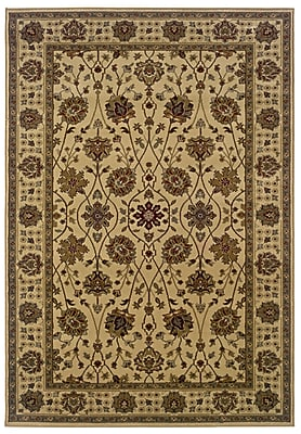 StyleHaven Floral Beige/ Green Indoor Machine-made Polypropylene Area Rug (5' X 7'6