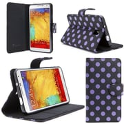 i-Blason Samsung Galaxy Note 4 Case - Slim Leather Book Wallet Cover - Dal Black