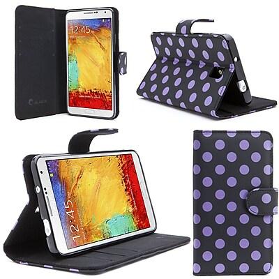 i-Blason Samsung Galaxy Note 4 Case - Slim Leather Book Wallet Cover - Dal Black