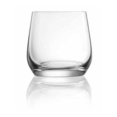Lucaris Hong Kong Hip Double Rock Old Fashioned Glass (Set of 4)