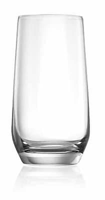 Lucaris Hong Kong Hip 16 oz. Crystal Every Day Glass (Set of 4)