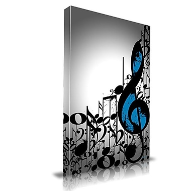 Maxwell Dickson Music Notes Graphic Art on Wrapped Canvas; 30'' H x 20'' W