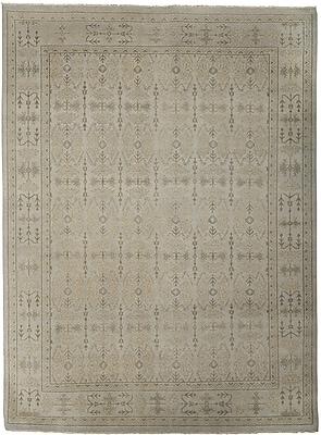 AMER Rugs Anatolia Bodrum Silver/Sand Area Rug; 6' x 9'