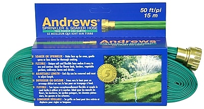 Andrews 10-12348 Sprinkler & Soaker Hose, 50'