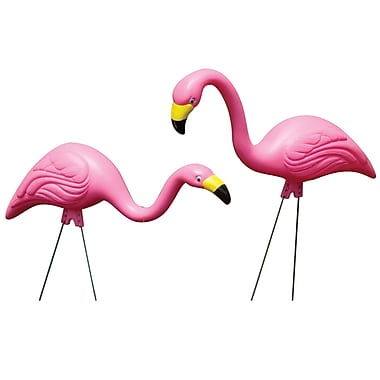 Allied Precision Industries G2 2 Count Pink Flamingos Statues