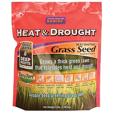 Bonide 60251 Heat & Drought Grass Seed, 3 lbs.